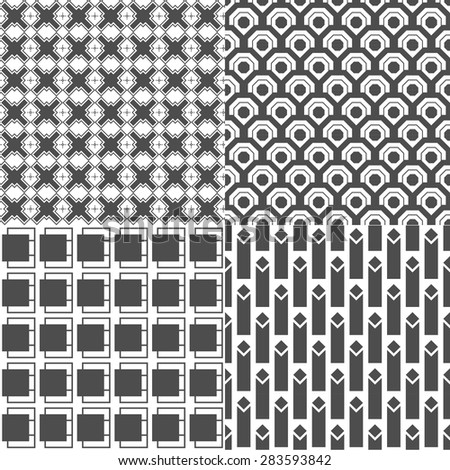 vector gray geometry seamless pattern design - stock vector