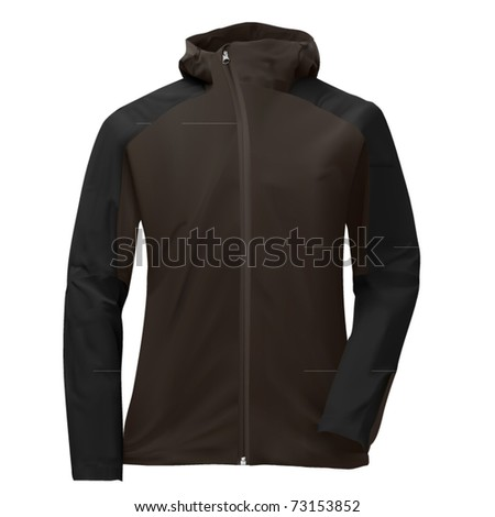 vector gray hoody jacket - stock vector