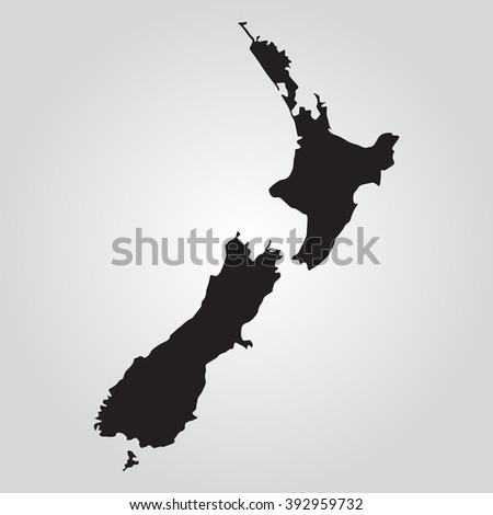 Vector gray map Netherlands. Grey on gradient background. Isolated vector Illustration. Black on Gradient background. EPS Illustration.