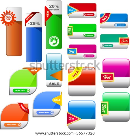 Vector great collection of sale banners - stock vector