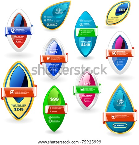 Vector great collection of sale banners. - stock vector