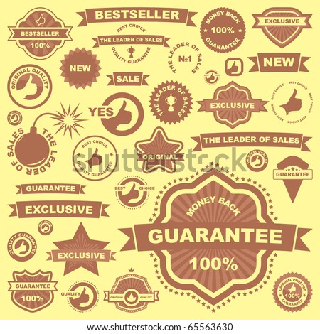 Vector great collection of sale signs. Vector illustration for sale. - stock vector