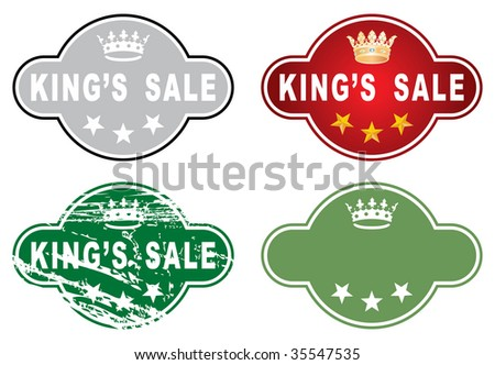 vector great sale label in four variations - stock vector