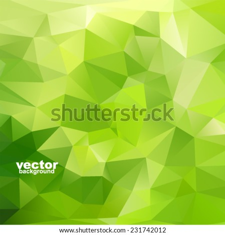 Vector green abstract geometric background - stock vector