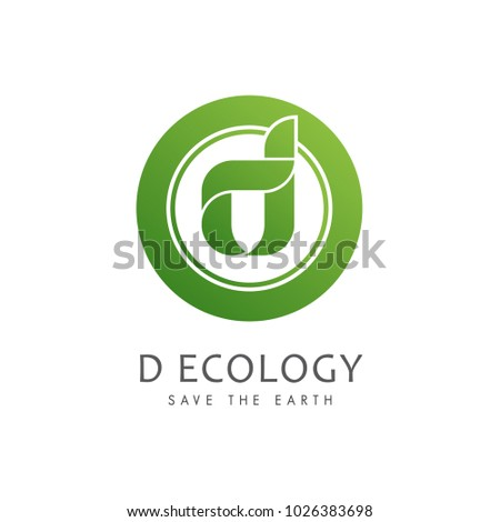 Vector green alphabet eco letter d stock vector hd royalty free vector green alphabet eco letter d logo with leave shape altavistaventures