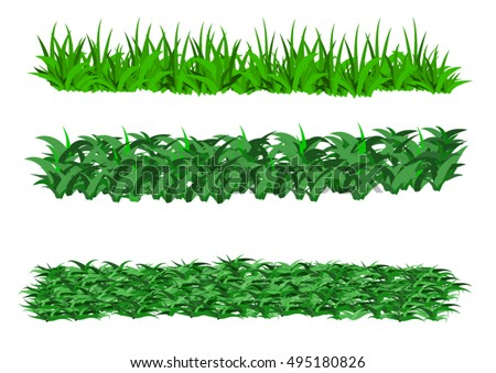 Vector - Green and bright grass border
