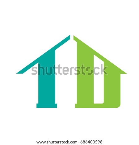 Vector Green Aqua Initial T D Stock Vector 686400598 Shutterstock