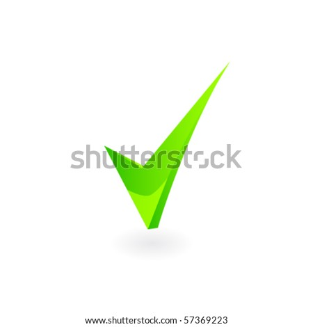 vector green checkmark - stock vector