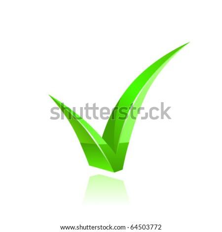Vector green checkmark - stock vector