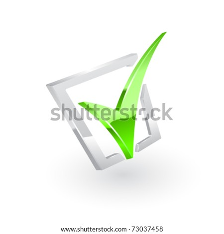 Vector green checkmark. Vector - stock vector
