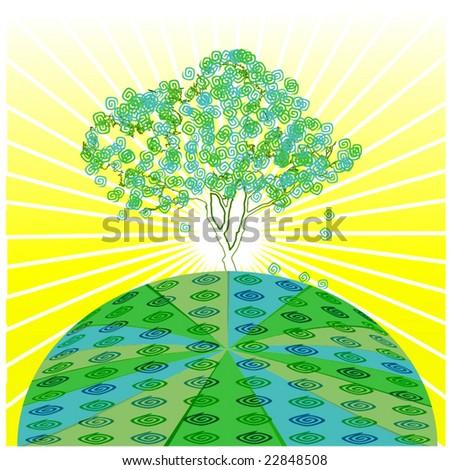 Vector Green Earth - stock vector