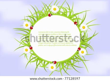 vector green ecological banner - stock vector