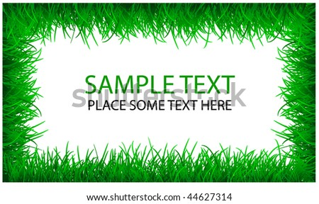 Vector Green Grass Template Stock Vector HD (Royalty Free) 44627314 ...
