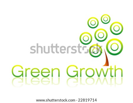 VECTOR Green Growth business card template