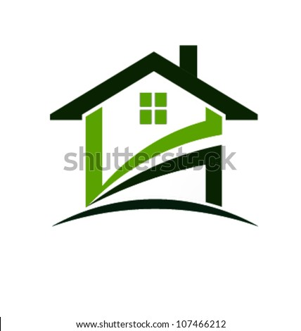 Vector Green house - stock vector