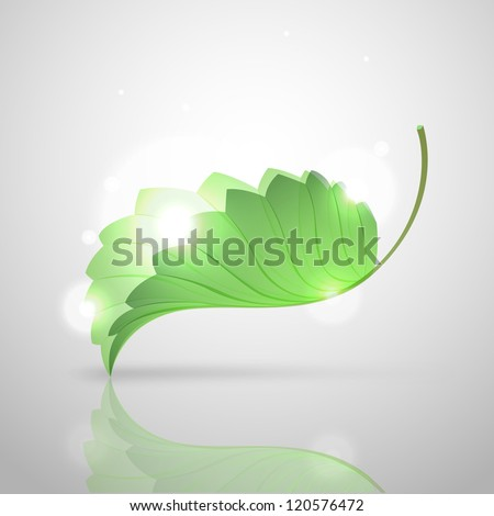 vector green leaf - stock vector
