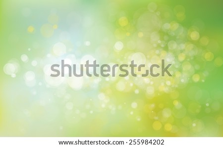 Vector green lights background. - stock vector