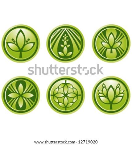 Vector green logo icon graphic symbols - stock vector