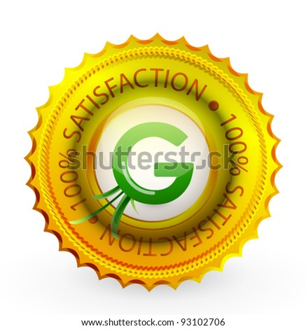 Vector green nature badge - stock vector