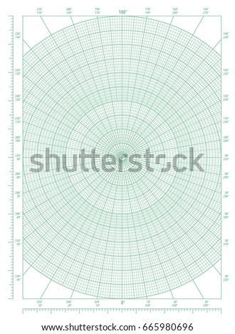 Old Sheet Polar Graph Paper Shows Stock Photo   Shutterstock