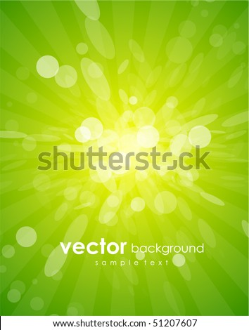 Vector green shiny background