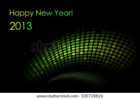 """Vector green """"snake"""" background (2013-year of the snake) - stock vector"""
