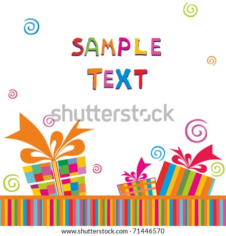 vector greeting card - stock vector