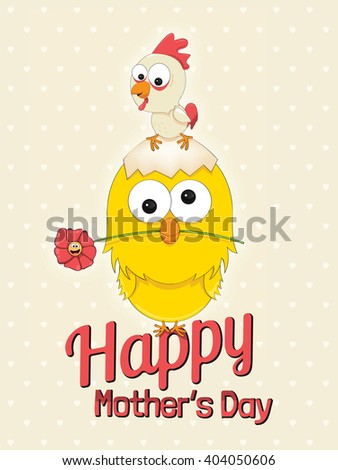 vector greeting card for the Mothers Day - stock vector