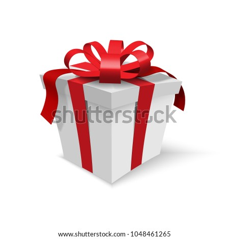 Vector Grey Gift Box Realistic Shadow Stock Vector HD (Royalty Free ...