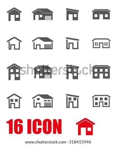Vector grey house icon set. House Icon Object, House Icon Picture, House Icon Image, House Icon Graphic, House Icon JPG, House Icon EPS, House Icon AI - stock vector - stock vector