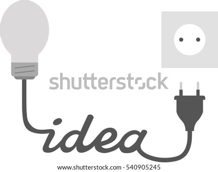 Vector Grey Light Bulb Idea Wire Stock Vector 540905245 - Shutterstock