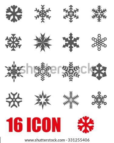 Vector grey snowflake icon set. Snowflake Icon Object, Snowflake  Icon Picture, Snowflake Icon Image, Snowflake Icon Graphic, Snowflake Icon JPG, Snowflake Icon EPS, Snowflake Icon AI - stock vector - stock vector