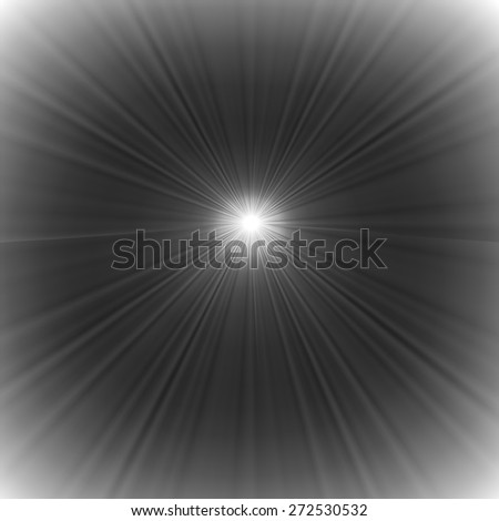 Vector Grey Wave Background. Grey Star Bust. Sun Rays Background.