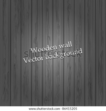vector grey wood background for your design - stock vector
