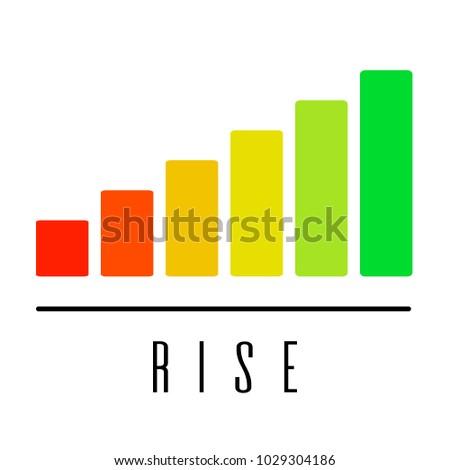 Graph Up Stock Market Icon Logo Design Element