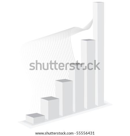 Vector growth bar graph - stock vector