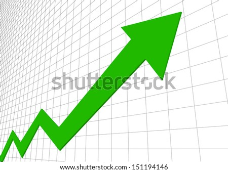 vector growth progress green arrow - stock vector