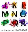 Vector Grunge Alphabet - More Letters in Portfolio - stock vector