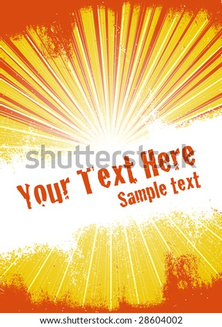 Vector grunge background with copy space for your text. Global Swatches Included. - stock vector