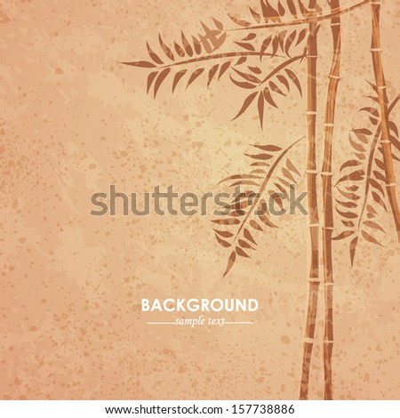 Vector grunge bamboo background - stock vector