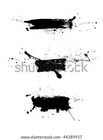Vector grunge banners - stock vector