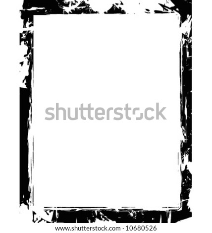 Vector grunge border frame - stock vector