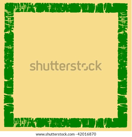 Vector Grunge Border Frame - stock vector