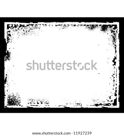 Vector grunge border frame. Measures 4.25 x 5.5 - stock vector