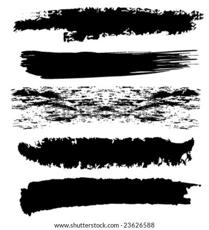 Vector grunge brushes - stock vector