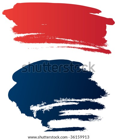 Vector grunge brushes - stock vector