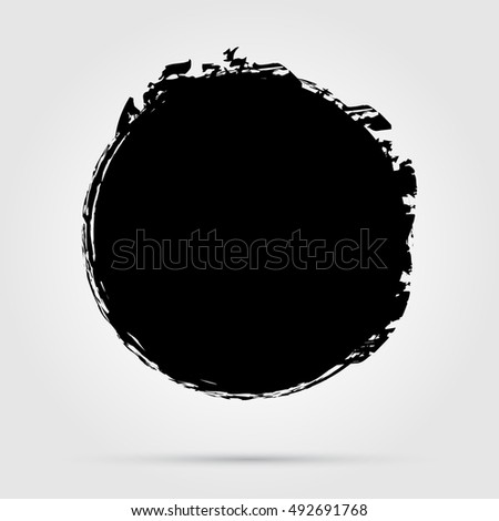 vector grunge circle grunge round shapegrunge stock vector