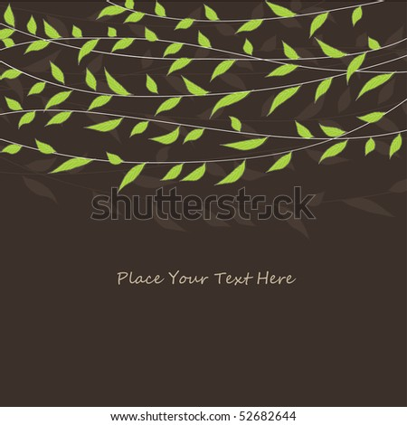 Vector grunge floral background - stock vector