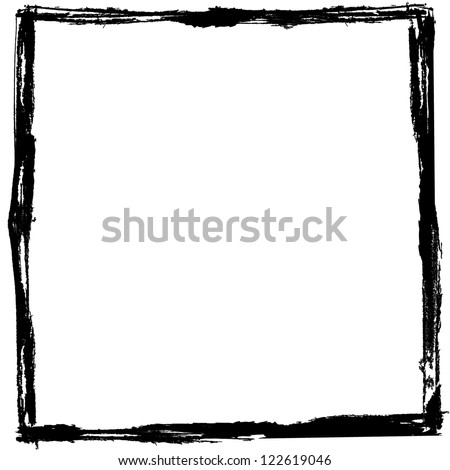 Vector Grunge Frame  Black and White Eps10 - stock vector