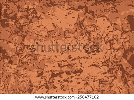Vector grunge natural background. Brown wood texture. - stock vector